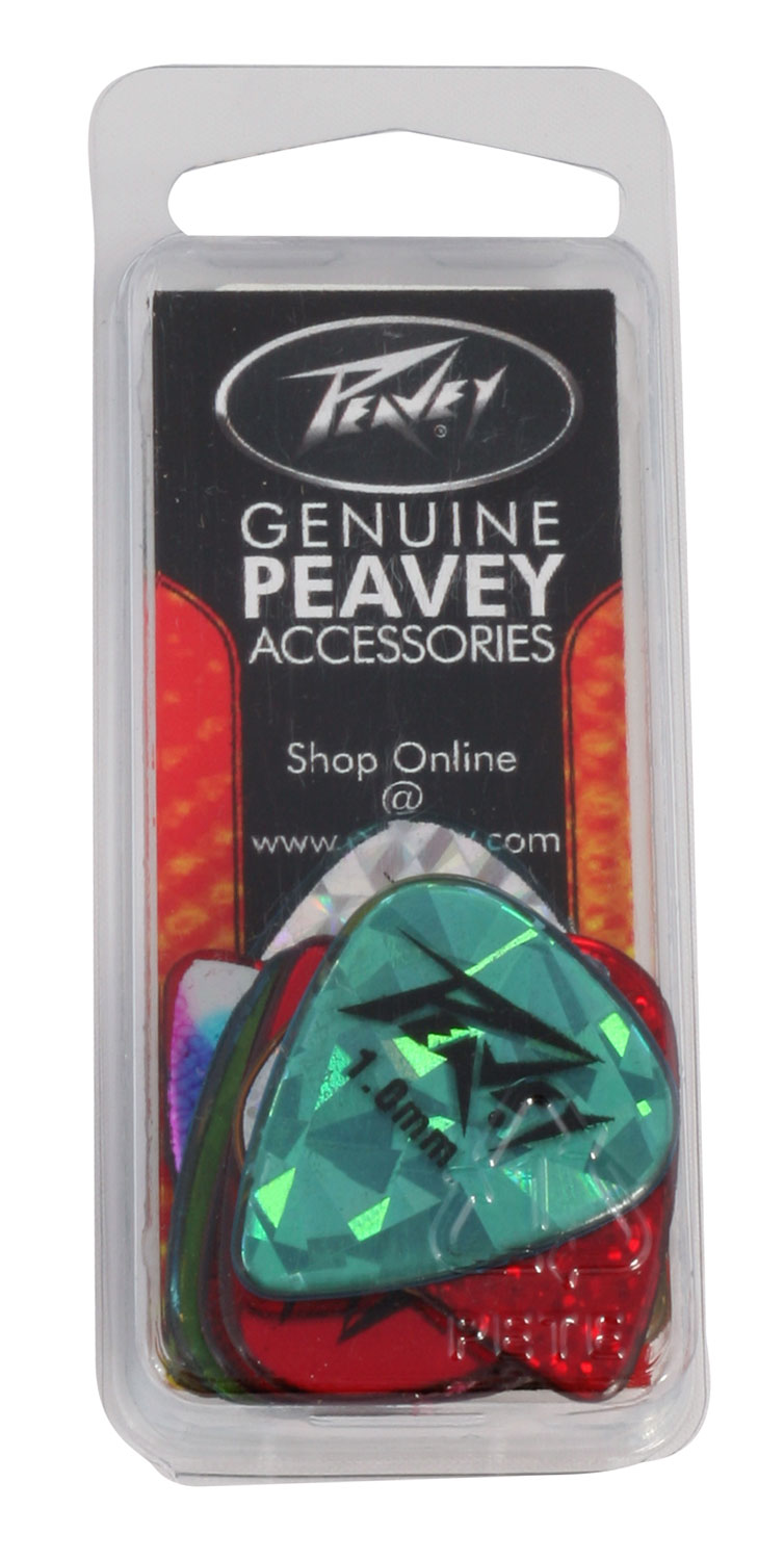 Peavey 1.0mm Common Shaped Guitar Pick Refill Holographic 351 - Heavy (479580)