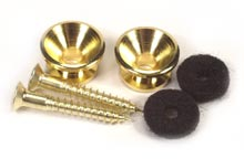 Peavey Premium Guitar Strap Button Gold with Chrome-Plated Hardware (69260)