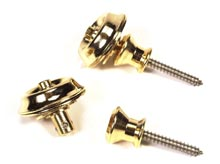Peavey Super Straplock Gold w/ Wide-Button Flange Guitar-Mounted Screw (79490)