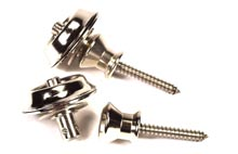 Peavey Super Straplock Chrome with Wide-Button Flange Mounting Screw (79500)