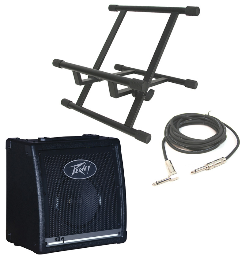 "Peavey KB1 Keyboard Combo 20 Watt Amplifier 8"" Speaker with Stand & 1/4"" Cable"
