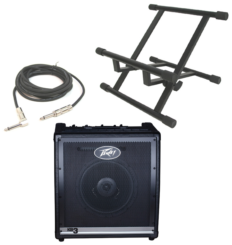 peavey kb3 electronic keyboard combo 60w amp 12 speaker with stand 1 4 jack cable peavey. Black Bedroom Furniture Sets. Home Design Ideas