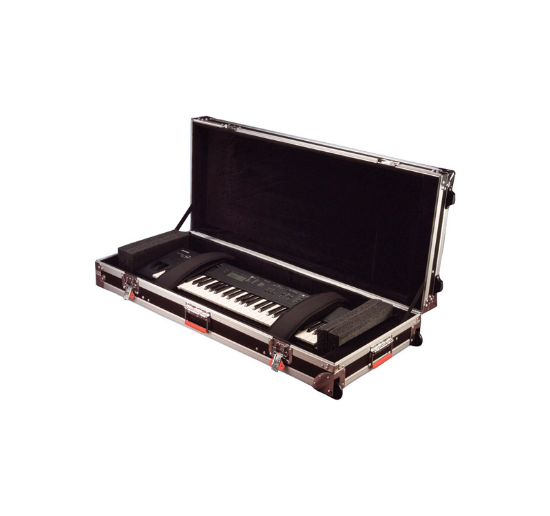 Gator Cases G-TOUR 61V2 ATA Wood Flight KEYBOARD ROAD CASE for 61 Note Keyboards with Wheels & Latches