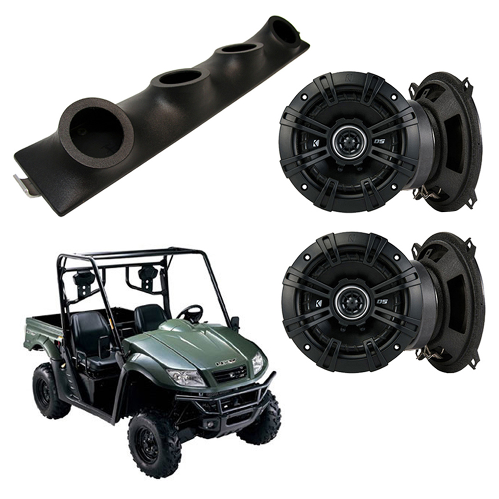 "Kymco UXV Kicker System DSC50 Custom Quad (4) 5 1/4"" Speakers Power Sports UTV Pod"