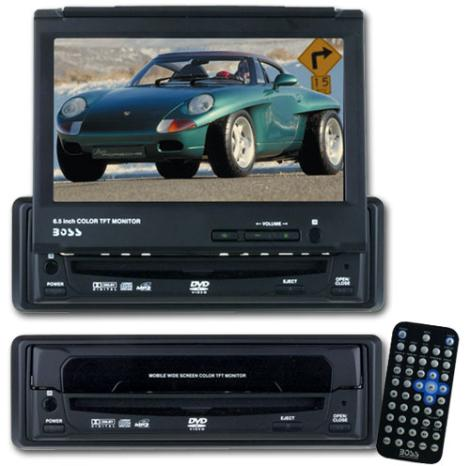 Boss DVD-9500B In-dash CD MP3 DVD Player with 6 5 Inch Monitor