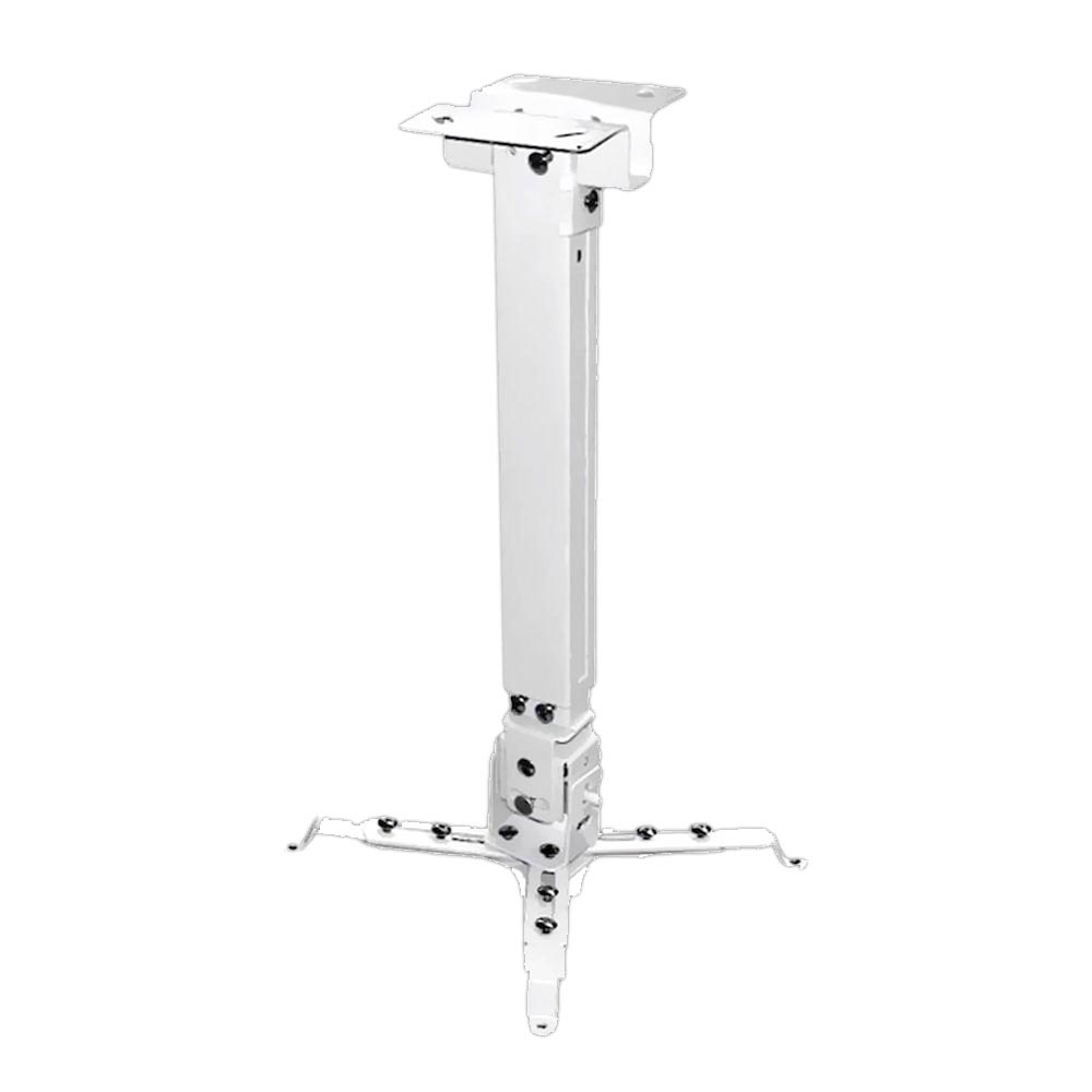Pyle Home Audio PRJCM3 Universal Projector Ceiling Mount Kit with Telescoping Height & Angle Adjustment - White