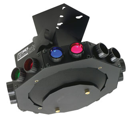 Eliminator Lighting E-113 Multi-Color Roto Saucer Effect Windmill Effects Compact Plug & Play