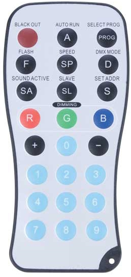 American DJ ADJ LED RC Wireless Remote Control for specific LED Products