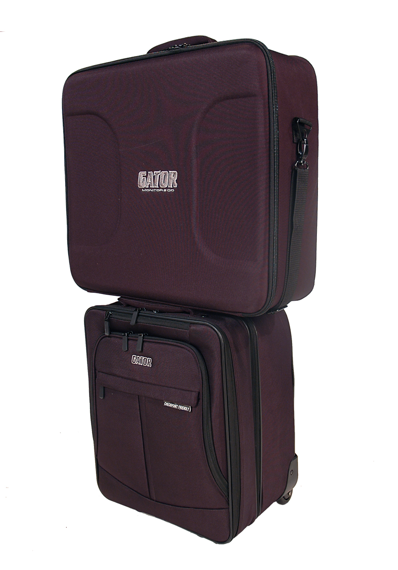 """Gator Cases GAV OFFICE 2 GO ? Rolling Laptop / Projector Bag Combo w/ 19"""" LCD Monitor Case"""