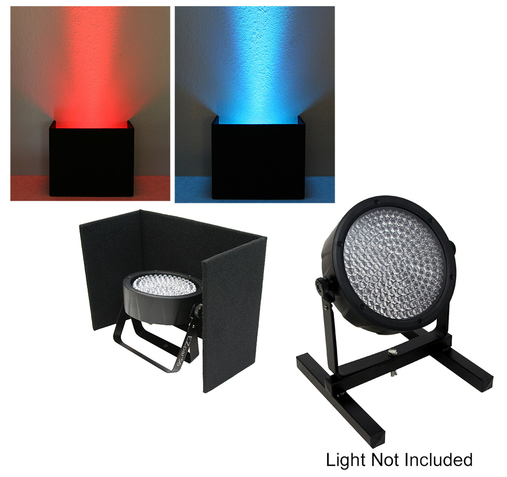 DJ Wedding Venue Lighting Slimpar 38 56 64 LED Up Light Black Cover with Uplighting Stand Package