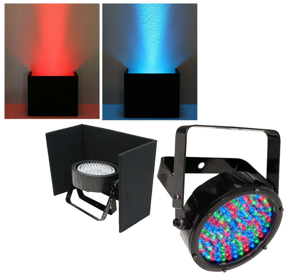 chauvet dj lighting slimpar 56 irc up outdoor rated rgb led uplighting wash with black up light. Black Bedroom Furniture Sets. Home Design Ideas