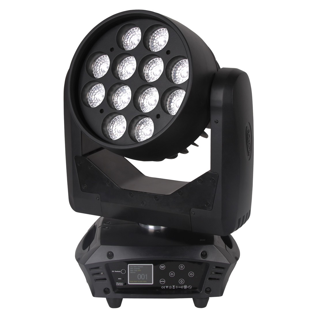 Elation RAYZOR Q12Z RGBW 12x 15W Quad Color RGBW LEDs Moving Head LED Wash (RAY524)