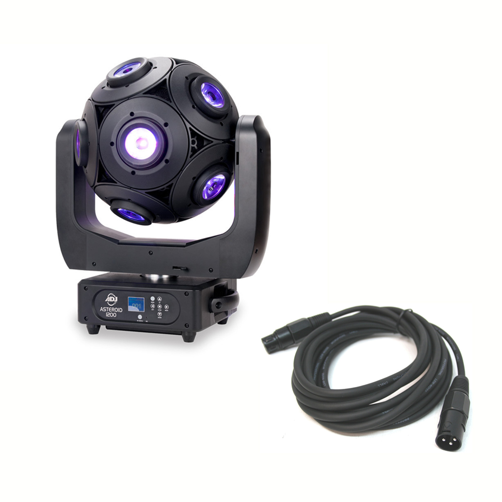 American DJ Asteriod 180W LED Centerpiece Fixture with 3 Pin DMX Control Cable