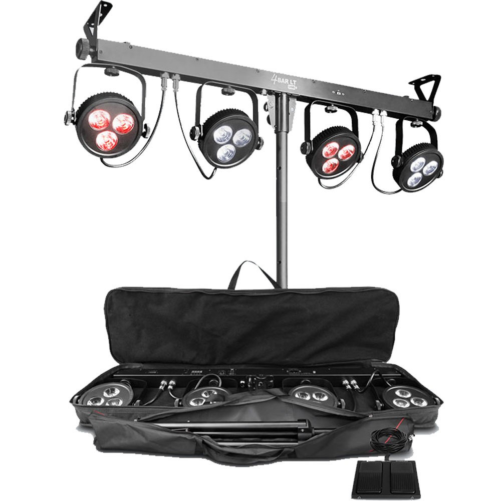 chauvet dj lighting 4bar lt usb portable tripod 4 par led wash light package. Black Bedroom Furniture Sets. Home Design Ideas