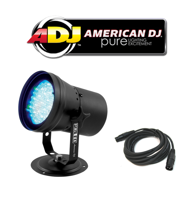 american dj lighting p36 led multi color dmx stage wash light with dmx cable package new adj. Black Bedroom Furniture Sets. Home Design Ideas