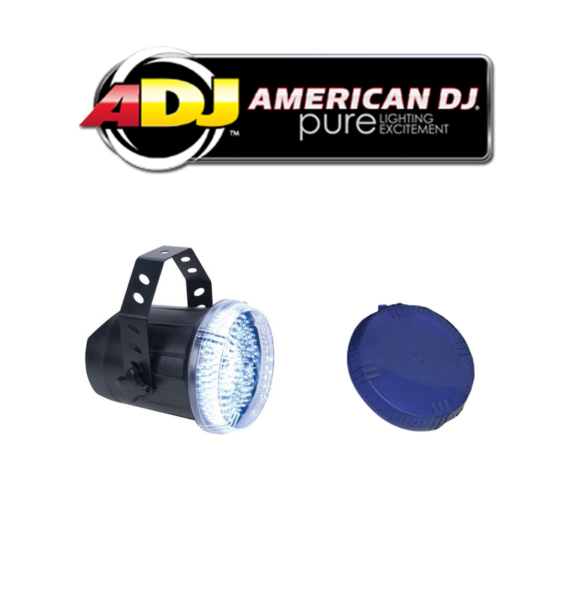 American DJ Lighting Snap Shot LED Variable Speed Strobe Flashing Light with Blue Color Dome Package