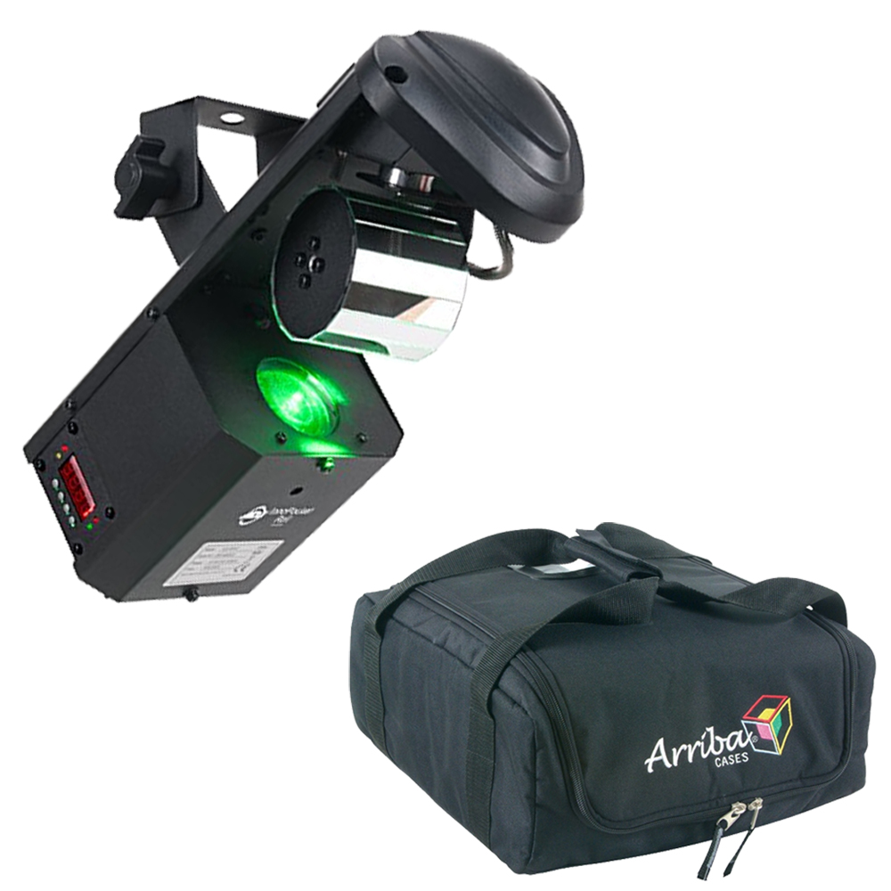 American DJ Inno Pocket Roll Barrel Mirror Scanner Color Effect Light with Travel Bag