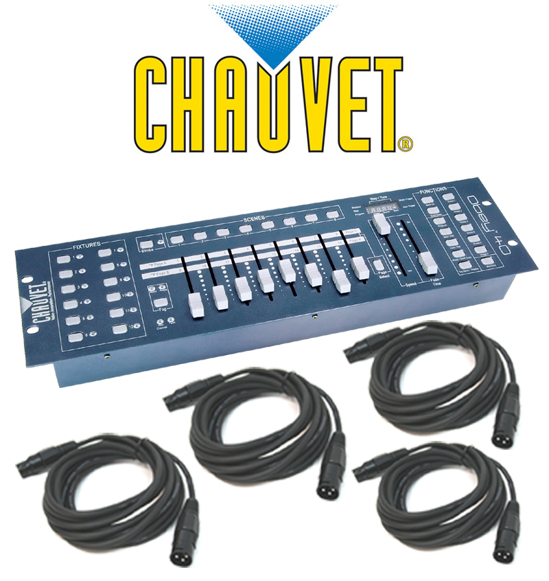Chauvet DJ Lighting Obey 40 Light 192 Channel DMX 512 Controller with (4) DMX Cables Package