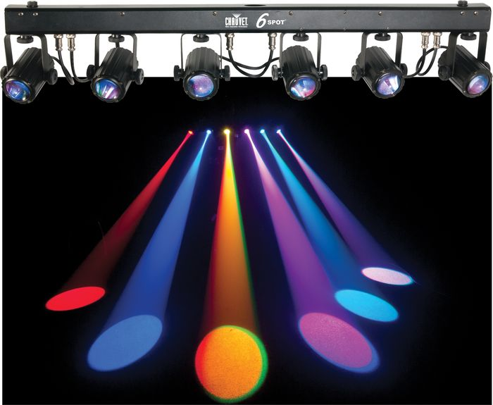 Chauvet Dj Lighting 2 6spot Dance Floor Led Color Light Bar With Dmx Cables Portable Truss System