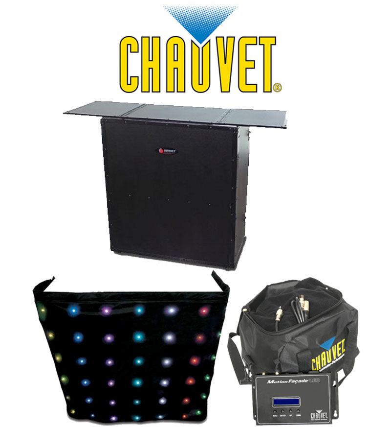 chauvet dj lighting motion facade led animated color skirt with odyssey fzf5437t portable dj. Black Bedroom Furniture Sets. Home Design Ideas