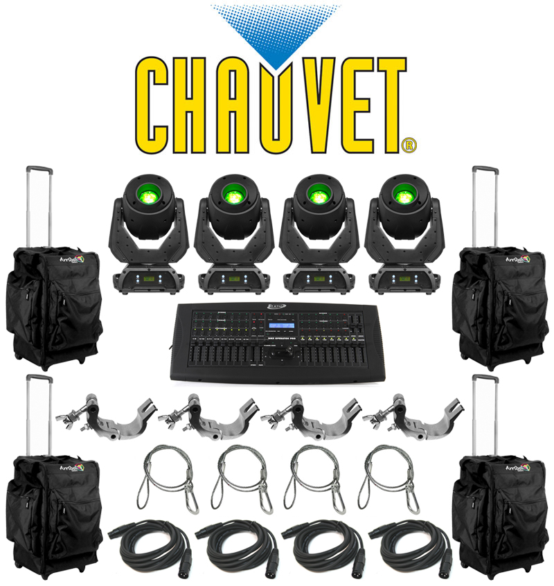 Chauvet DJ Lighting (4) Q Spot 360 LED Moving Head Color LED Lights with (4) DMX Cables (4) Cl&s (4) Safety Cables u0026 (4) Arriba Rolling Bags u0026 American ...  sc 1 st  HiFiSoundconnection & Chauvet DJ Lighting (4) Q Spot 360 LED Moving Head Color LED ... azcodes.com