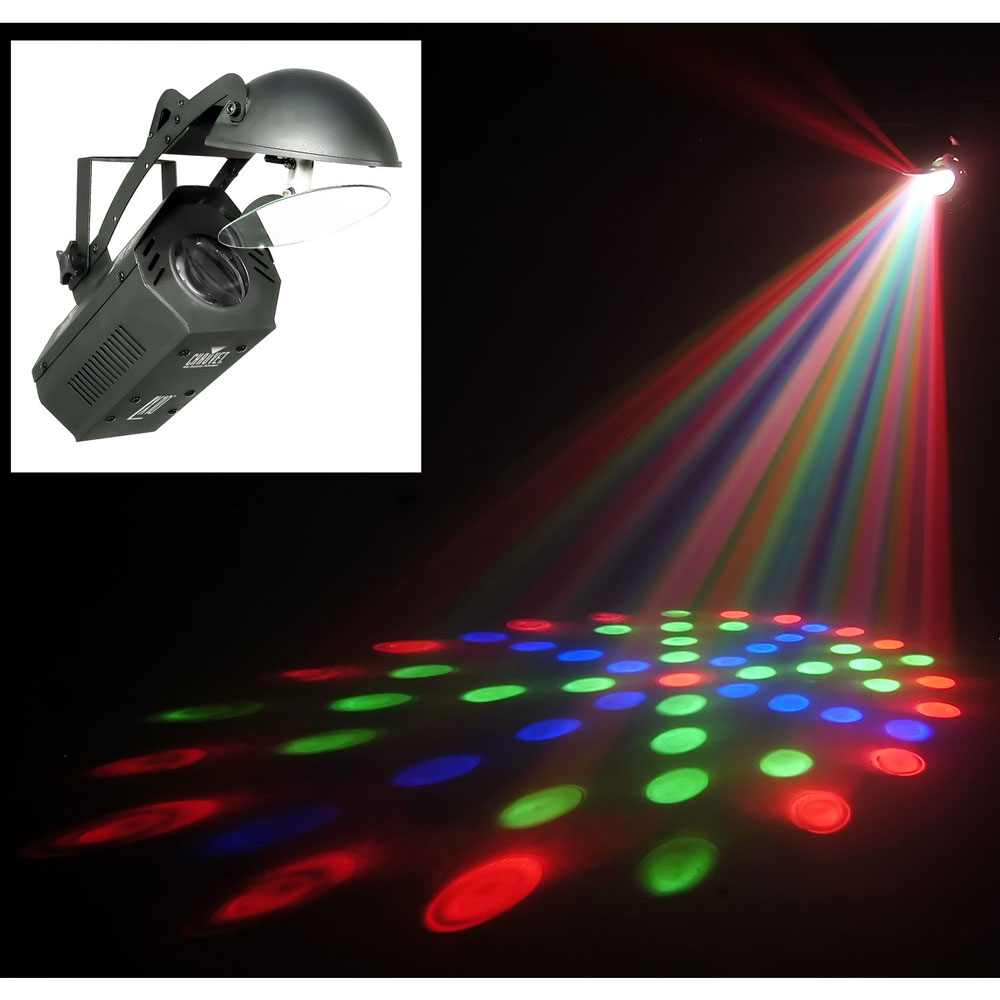chauvet dj lighting lx10 dance floor moonflower effect led light with arriba travel bag. Black Bedroom Furniture Sets. Home Design Ideas