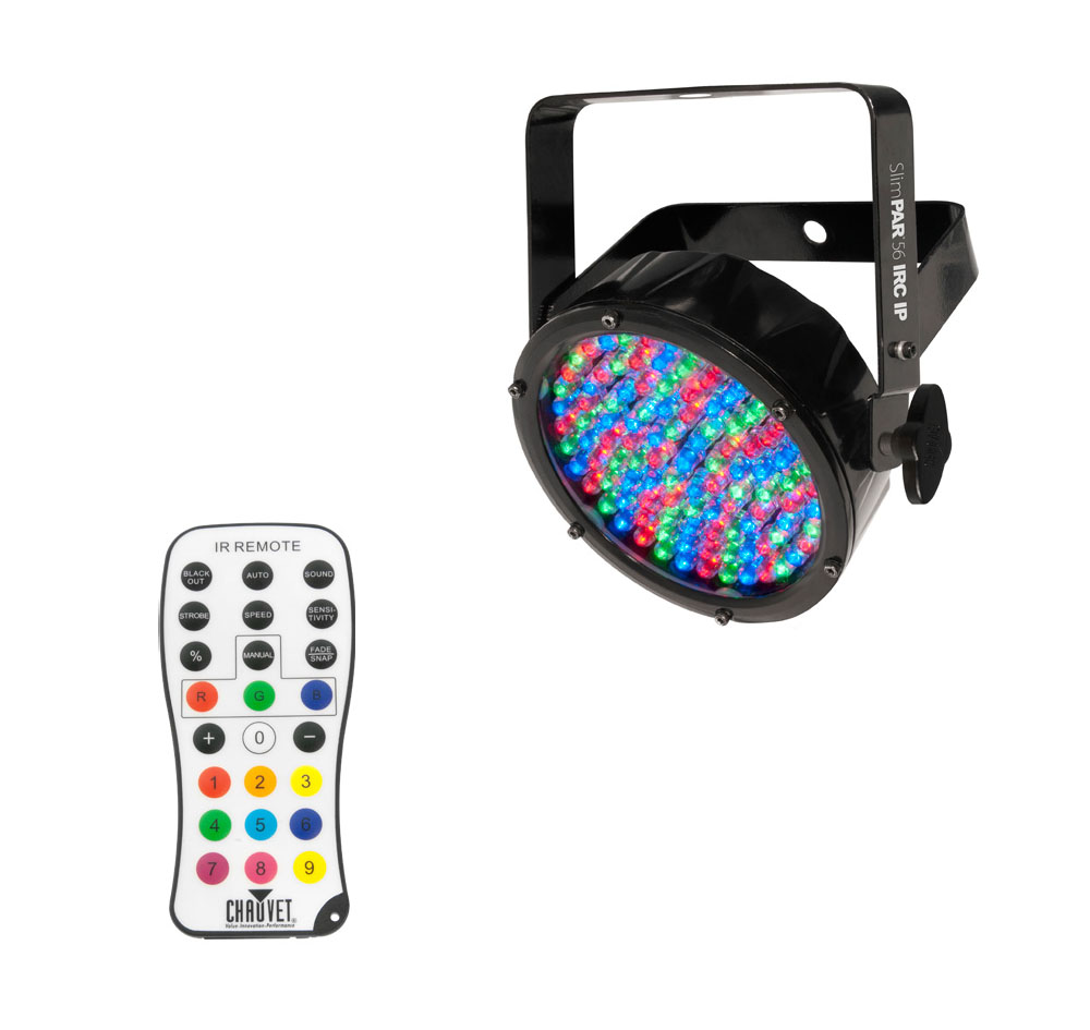 chauvet dj lighting slimpar56 irc ip outdoor par can led wash light with irc wireless. Black Bedroom Furniture Sets. Home Design Ideas