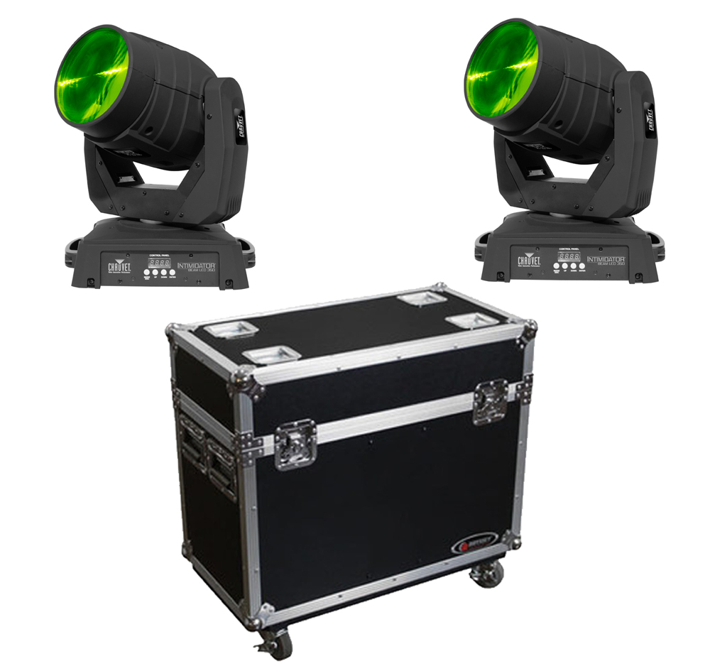 chauvet dj lighting 2 intimidator beam led 350 moving head gobo spot light with rolling road. Black Bedroom Furniture Sets. Home Design Ideas