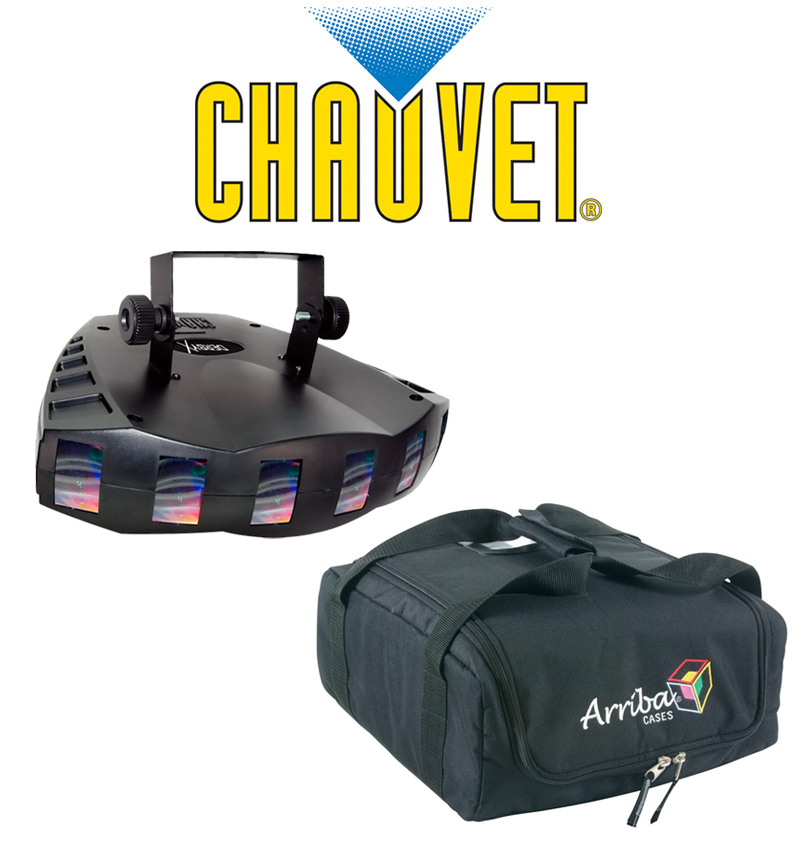 Chauvet DJ Lighting Derby X Dance Effect Party Light with Arriba Carry Transport Bag Package