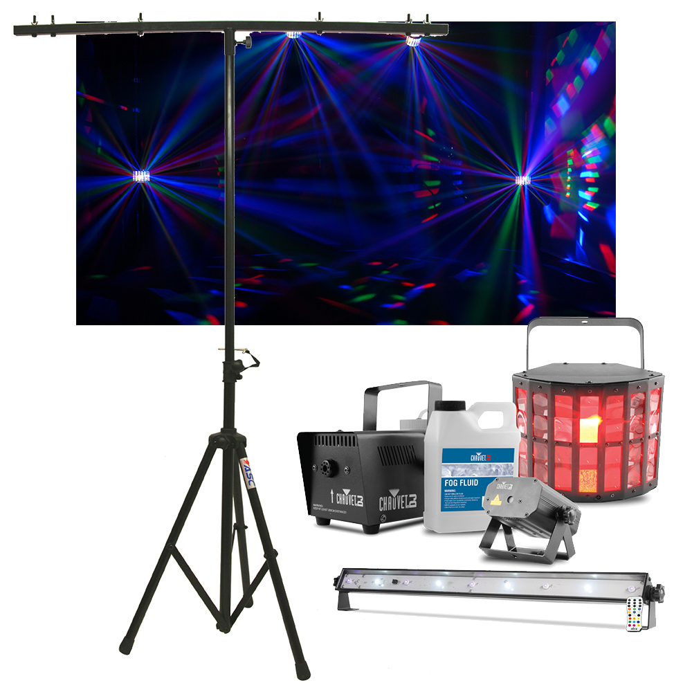 Chauvet DJ Lighting JAM Pack Gold Derby Fog u0026 Laser Lights w/ Tripod Stand New  sc 1 st  eBay & Chauvet DJ Lighting JAM Pack Gold Derby Fog u0026 Laser Lights w ... azcodes.com