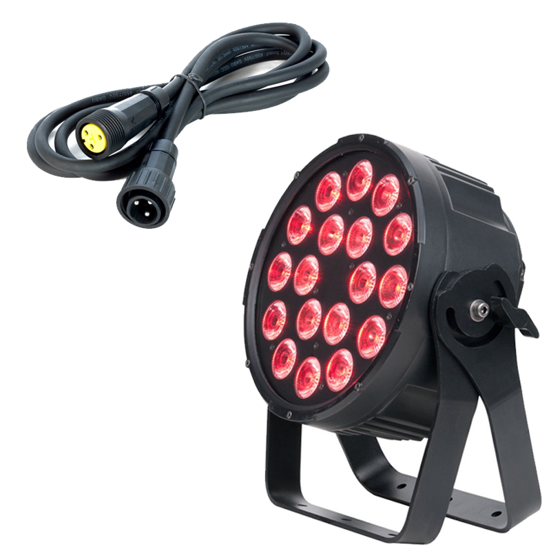 Elation Lighting SIXPAR 300IP 18 x 12W 6-in-1 Par w/ 10m IP Power Linking Cable