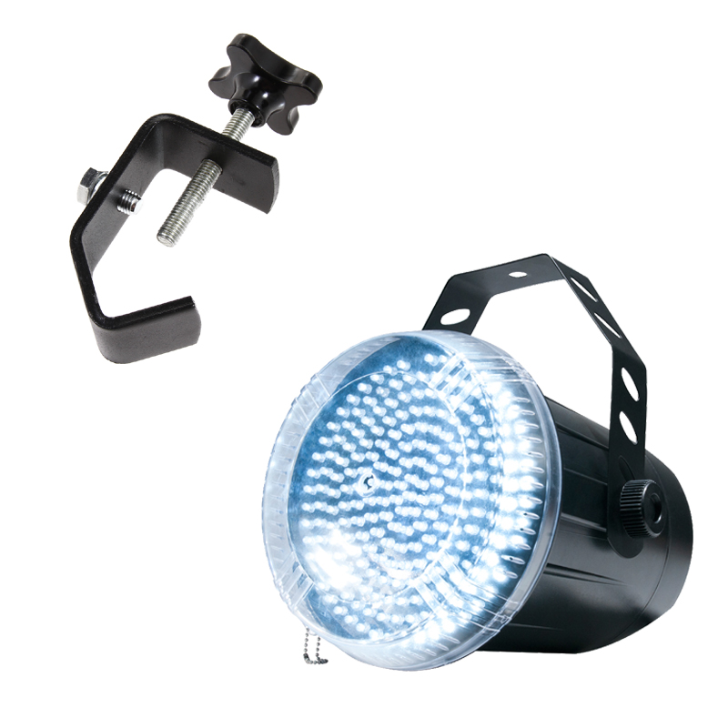 American DJ Snap Shot LED II Strobe Fixture Package with Heavy Duty Truss Clamp