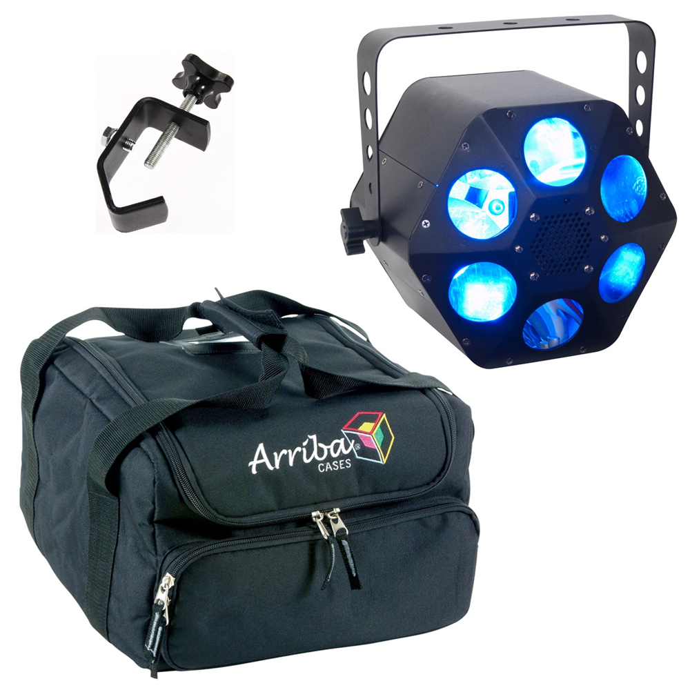 American DJ Quad Phase HP 4-in-1 LED Moonflower Fixture w/ AC130 Bag & Clamp