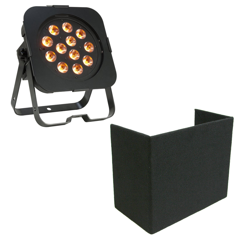 american dj flat par qa12x rgbw led lighting fixture package w uplight cover 640282002936 ebay. Black Bedroom Furniture Sets. Home Design Ideas