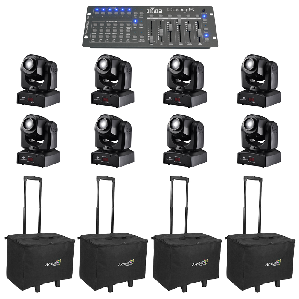 American Dj 6 Inno Pocket Spot Moving Head Fixtures W