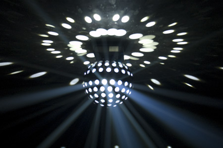 American Dj Spherion Wh Led Mirror Ball Effect Light With