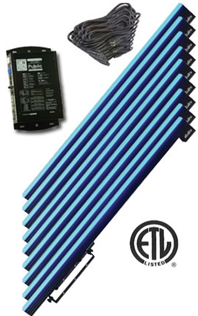 Elation OCTO STRIP II LED System Of 8 Strips and PD-60 Control System  Alkalite