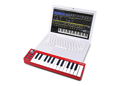 Jammin Pro PK 25 25-Key Laptop Performance Keyboard MIDI Controller with  USB Power Supply & Connector (PK25)