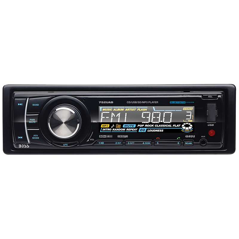 Boss Audio 752UAB In-Dash CD/MP3 AM/FM Receiver with Bluetooth Function Includes Remote Control