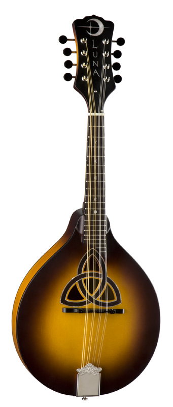 Luna Folk Trinity A-Style Mandolin Acoustic Guitar w/ Solid Spruce Top - Natural Matte Finish (BGM TRI A)