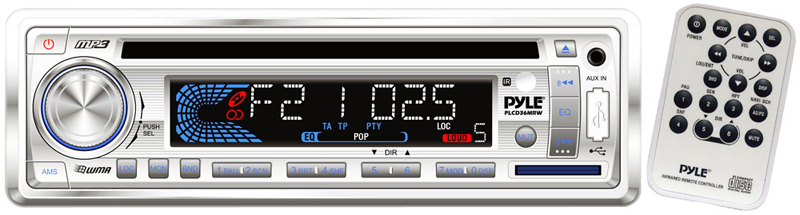 Pyle Marine Audio Plcd36mrw Am  Fm  Mp3 Player    Weatherband    Usb  U0026 Sd