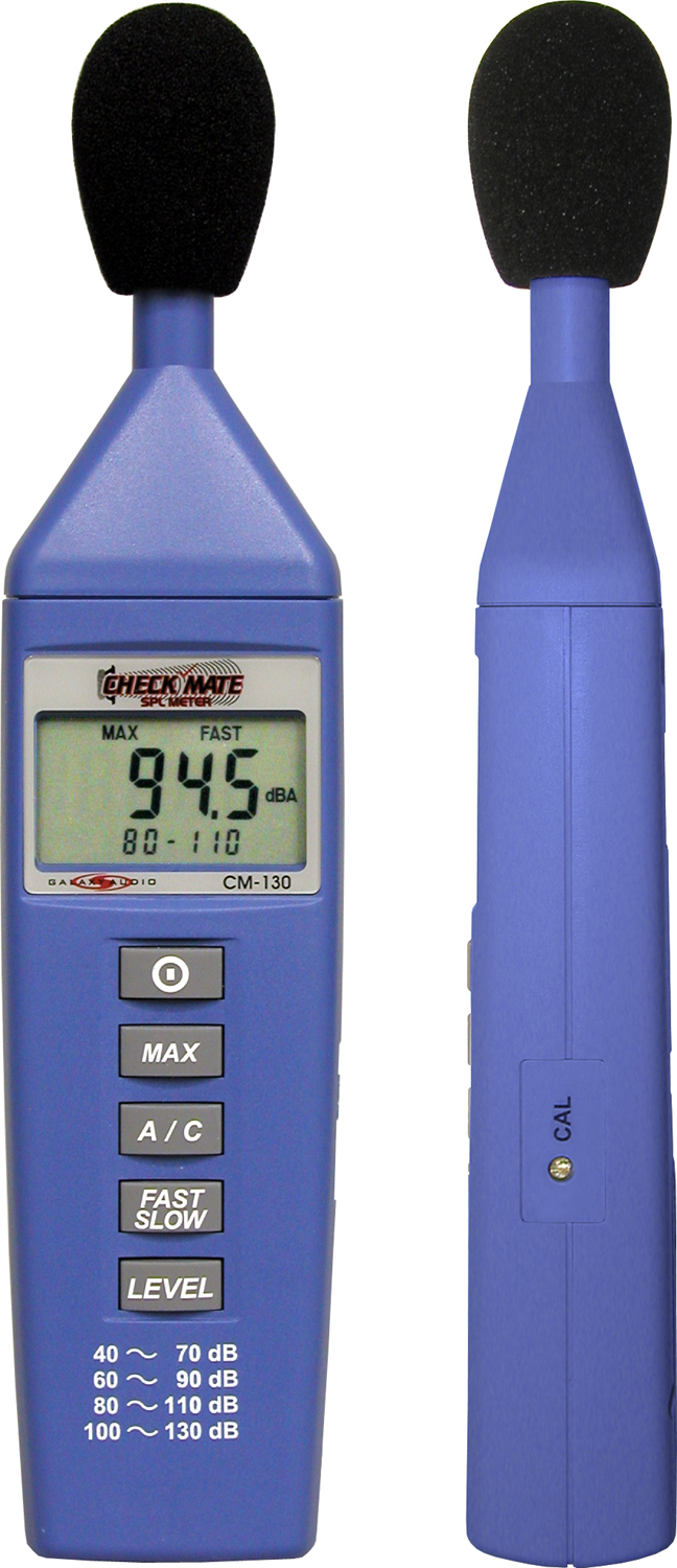 Galaxy Audio CM-130 SPL Sound Level Meter Max Mini Size W/ Display - New Return
