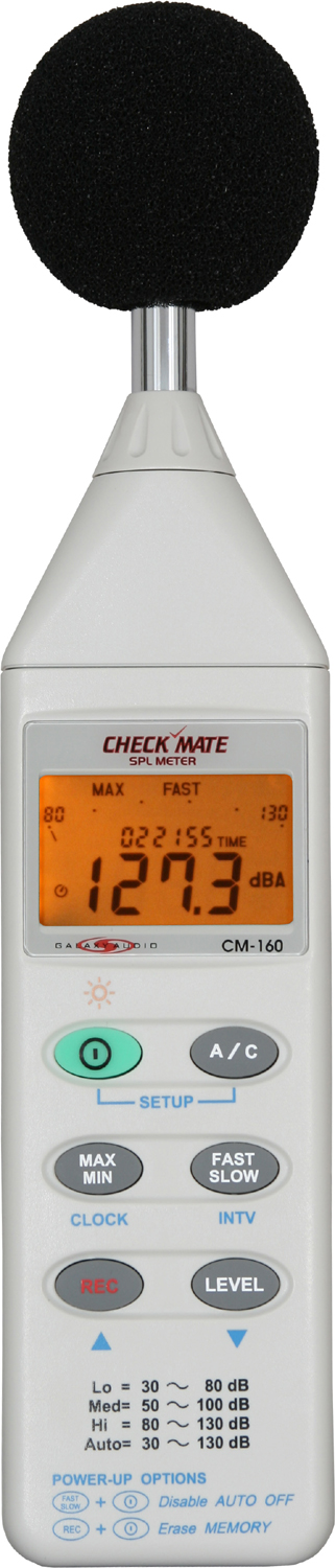 Galaxy Audio CM-160 Check Mate SPL Meter With Lcd Display & Memory - New Return
