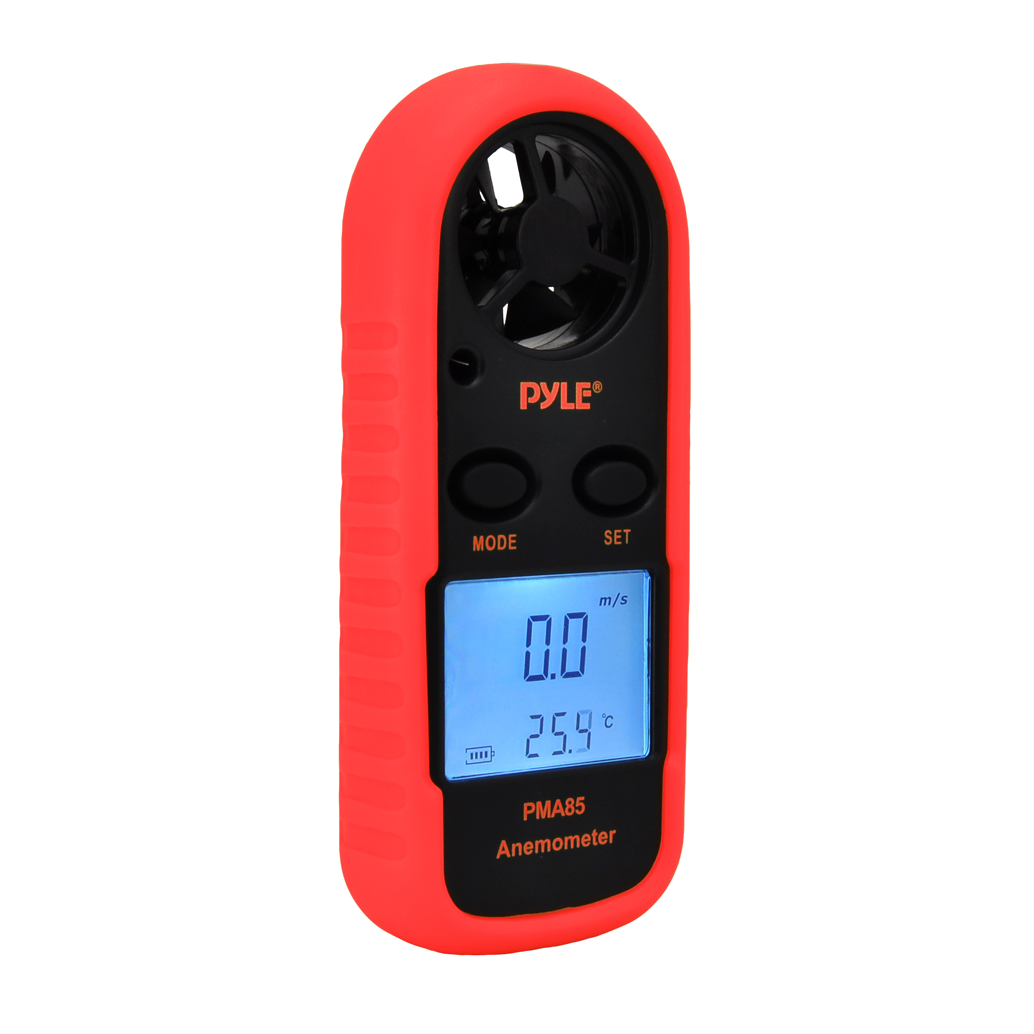 Pyle PMA85 Digital Anemometer - Measuring Wind and Temperature w/ LCD Backlight