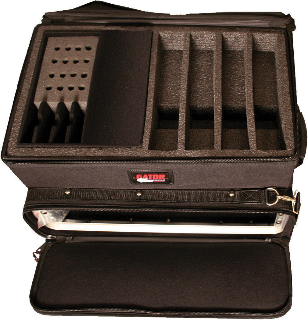 Gator Cases G-WIRELESS-3-GO 3-Space Rack / 4 Wireless Microphone Slots