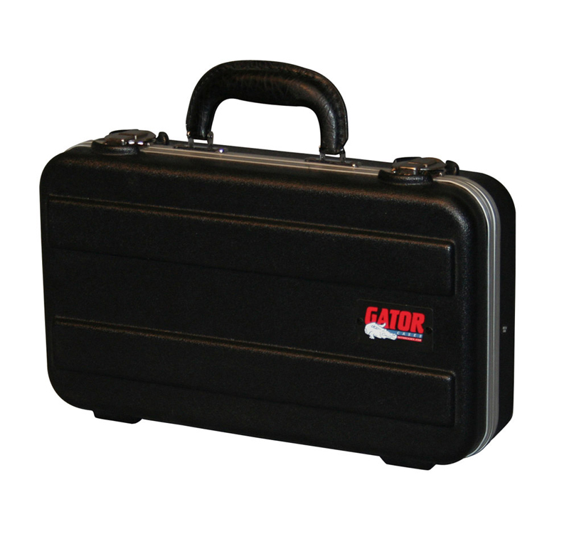 Gator Cases GM-6-PE ATA Molded 6 Slot Mic Case w/ Compact Briefcase - New Return