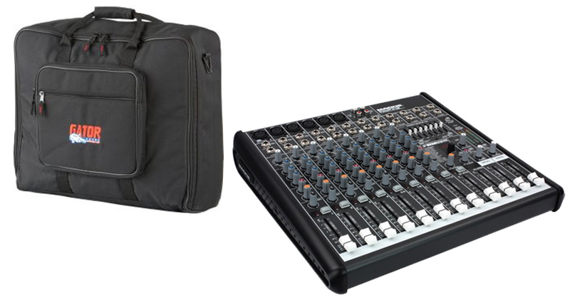 Mackie ProFX12 Pro Audio DJ 12 Channel Digital Recording Mixer & Effects with $120 Gator Padded Gig Bag
