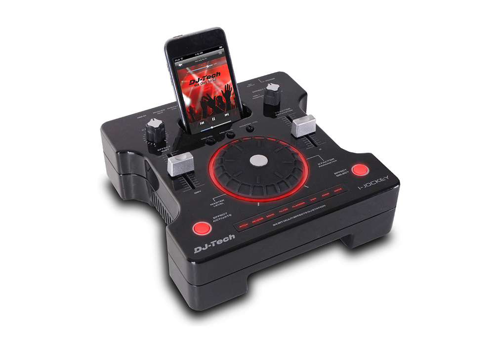 DJ Tech i-Jockey Mobile DJ Worstation with Battery Powered for iPods