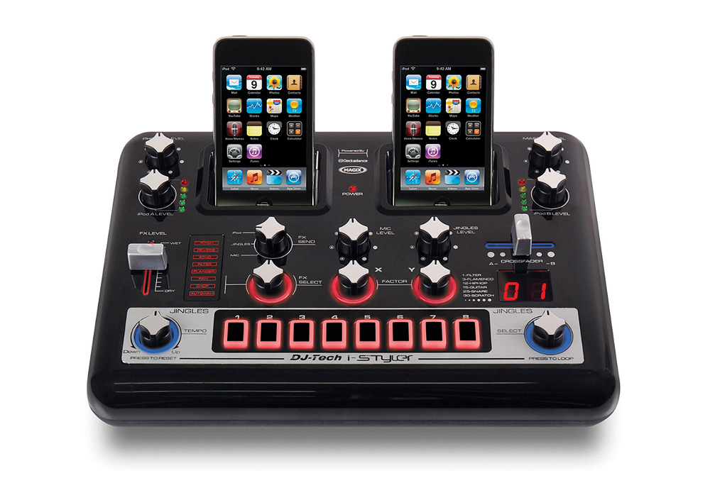 DJ Tech i-Styler easiest & most versatile machine to mix 2 iPods