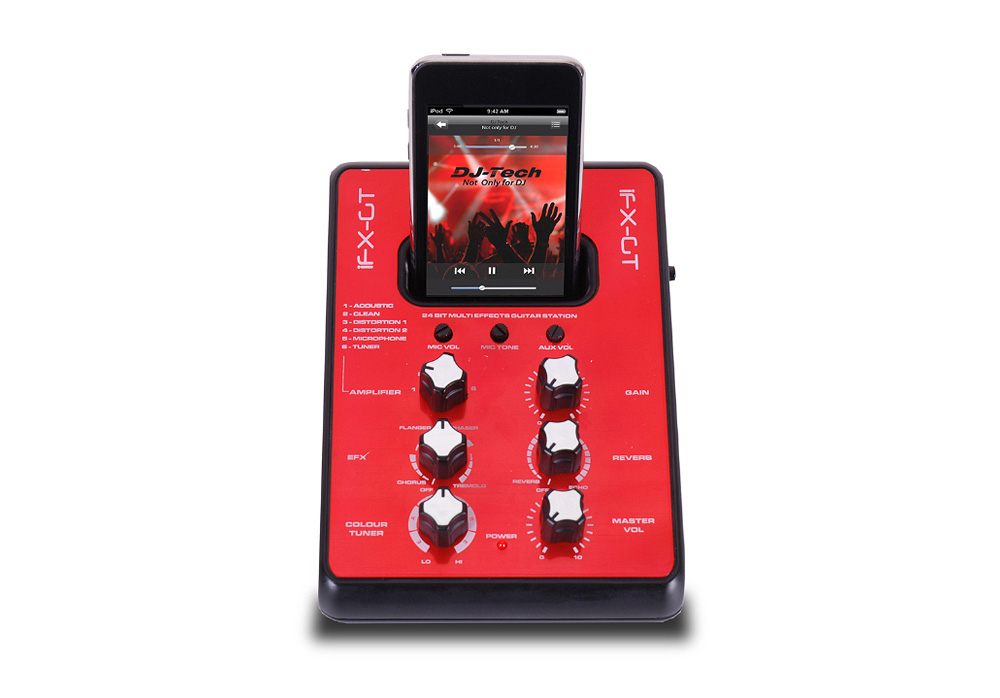 DJ Tech iFX GT Mini Mixer with Guitar Amp Simulation & Preset Selector